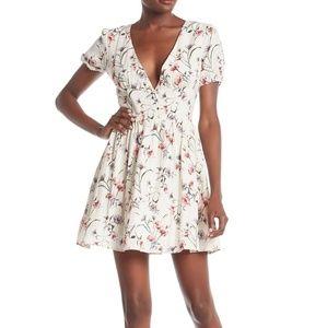 JOA short sleeve floral print dress